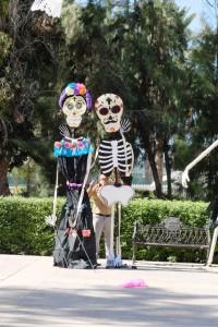 erste Vorkehrungen für den Diaz de los Muertos