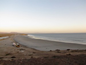 Am Strand bei Santa Rosalita am Pazifik