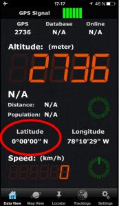 Am Äquator auf 2736 m üNN