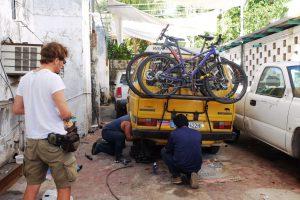 In der Werkstatt in  Campeche.