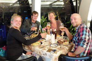 Zum Abendessen mit Kristin und Stephan