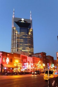 Batman Building und Broadway in Nashville