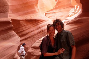 Wir im Lower-Antilope Canyon