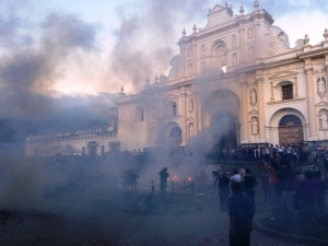Riot in Antigua?