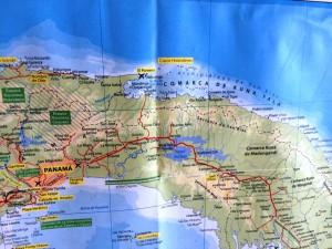 Karte Archipel San Blas