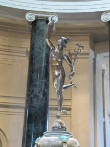 Hermes, Brunnenfigur in der Rutunde der National Galerie