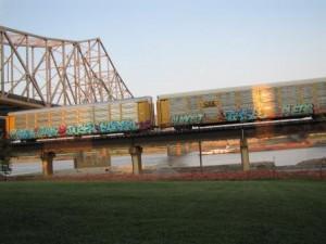 Eisenbahntrasse in St. Louis