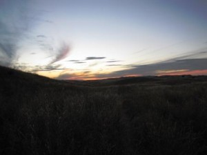 Sonnenuntergang über der Prärie
