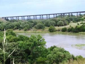 Eisenbahnbrücke über dem Niobrara River