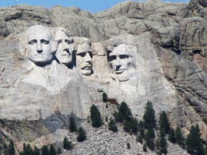 Mount Rushmore faces