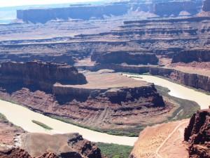 Blick zum Colorado River vom Death Horse Point aus