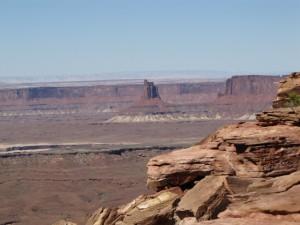 """Blick in den Canyon mit """"Zeugenberg"""""""