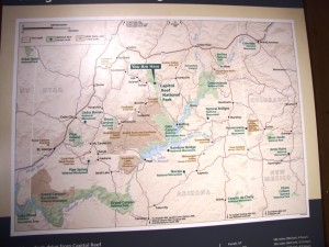 Übersicht zu den National Parks der Region