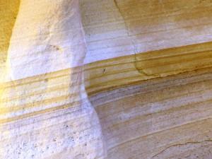 Schichtung im Sandstein