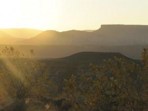 Morgendämmerung über dem Zion NP