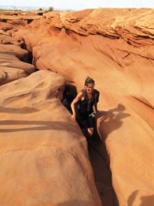 Ausstieg aus dem Lower-Antilope Canyon