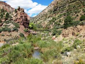 Brücke im Bright Angel Canyon