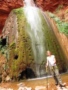 Claudia an den Ribbon Falls