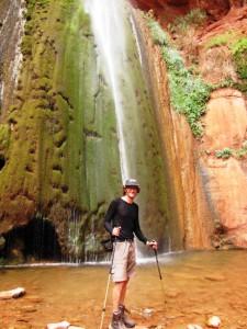Gert an den Ribbon Falls