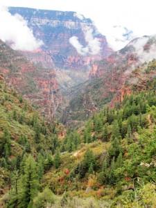 Aufstieg durch den Bright Angel Canyon