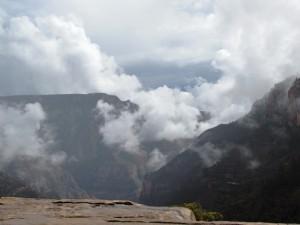 Kurz vor dem Ende des Bright Angel Canyon