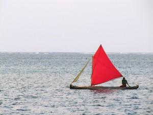 ein Segelboot der Kuna